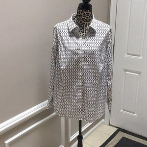 Talbots wrinkle resistant women's blouse plus size